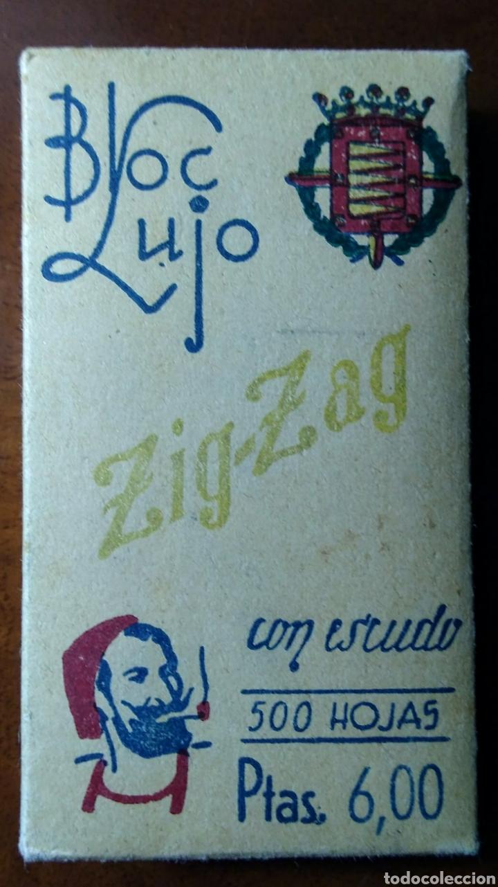 PAPEL DE FUMAR ZIG-ZAG BLOC LUJO 500 HOJAS 6 PESETAS (Coleccionismo - Objetos para Fumar - Papel de fumar )