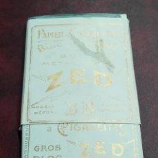 Papel de fumar: PAPEL FUMAR ZED FRANCIA. Lote 203407593