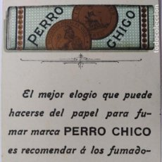 Papel de fumar: PAPEL DE FUMAR PERRO CHICO-PUBLICIDAD ANTIGUA-VER FOTOS-(65.983). Lote 190369797