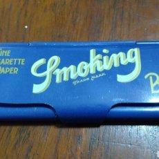 Papel de fumar: CAJITA METÁLICA PAPEL DE FUMAR SMOKING. Lote 190461148