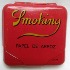Papel de fumar: CAJITA METÁLICA PAPEL DE FUMAR SMOKING. AÑOS 80. Lote 190484841