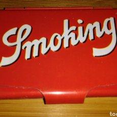 Papel de fumar: CAJITA METÁLICA PAPEL DE FUMAR SMOKING. Lote 190565370