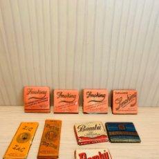 Papel de fumar: LOTE DE 9 PAQUETES DE PAPEL DE FUMAR VARIOS. Lote 190830316
