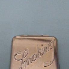 Papel de fumar: CAJITA METALICA PAPEL DE FUMAR SMOKING. Lote 191222941