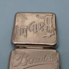 Papel de fumar: CAJITA METALICA PAPEL DE FUMAR BAMBÚ SIN MADE IN SPAIN. Lote 191223051