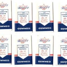 Papel de fumar: PAPEL DE FUMAR 8 FULL PACKETS, B&W; CIGARETTE ROLLING PAPER. Lote 191275827