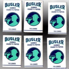 Papel de fumar: PAPEL DE FUMAR 6 FULL PACKETS BUGLER 115; CIGARETTE ROLLING PAPER. Lote 191279186