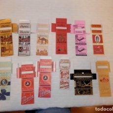 Papel de fumar: LOTE COLECCION DE 12 ANTIGUAS CARATULAS DE PAPEL DE FUMAR, ORIGINALES. Lote 191350076
