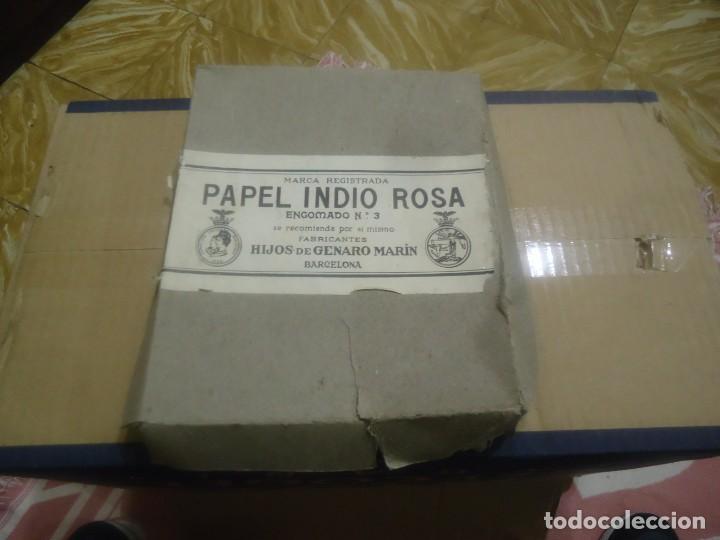 ANTIGUA CAJA DE PAPEL DE FUMAR MARCA EL INDIO ROSA,HIJOS DE GENARO MARIN,BARCELONA. (Coleccionismo - Objetos para Fumar - Papel de fumar )