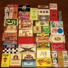 Papel de fumar: GRAN LOTE DE 43 LIBRITOS ANTIGUOS DE PAPEL DE FUMAR. Lote 191612576