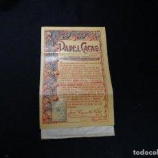 Papel de fumar: ANTIGUO LIBRILLO DE PAPEL FUMAR CACAO. Lote 191651191