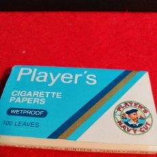 Papel de fumar: LIBRITO PAPEL DE FUMAR *PLAYER´S* IMPERMEABLE. Lote 191695618