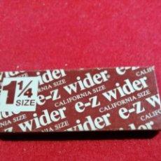 Papel de fumar: LIBRITO DE PAPEL DE FUMAR * E-Z WIDER *. Lote 191724441