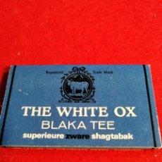 Papel de fumar: LIBRITO DE PAPEL DE FUMAR * THE WHITE OX *. Lote 191737036