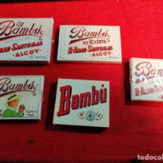 Papel de fumar: 5 LIBRITOS PAPEL DE FUMAR *BAMBÚ * TODOS DIFERENTES. Lote 191737683