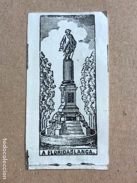Papel de fumar: Papel de fumar 1848 Fabrica de Jose Boronat Alcoy Inauguracion del monumento a Floridablanca tabaco - Foto 2 - 191940533