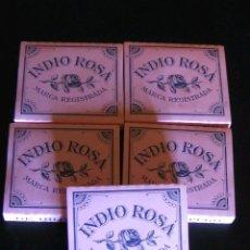 Papel de fumar: LOTE DE 5 LIBROS PAPEL DE FUMAR INDIO ROSA. Lote 193628813