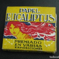 Papel de fumar: PAPEL DE FUMAR EUCALIPTUS . JOSÉ DURA. VALENCIA 1910,S. Lote 193976627