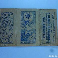 Papel de fumar: ENVOLTURA O PARTE DE ELLA DE UN LIBRILLO PAPEL DE FUMAR. JULIAN MORA CASTELLO. BAÑERAS. SALAMANCA.. Lote 194083637