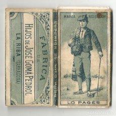 Papel de fumar: ANTIGUO LIBRITO PAPEL DE FUMAR LO PAGES FABRICA HIJOS JOSE GOMA PEDROL LA RIBA ( TARRAGONA. Lote 194115068