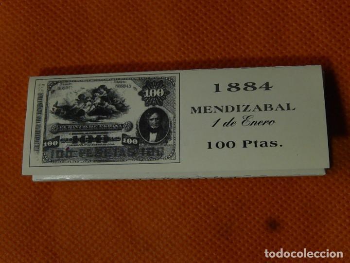 Papel de fumar: 10 libritos de papel de fumar. Billetes antiguos. - Foto 2 - 194337771
