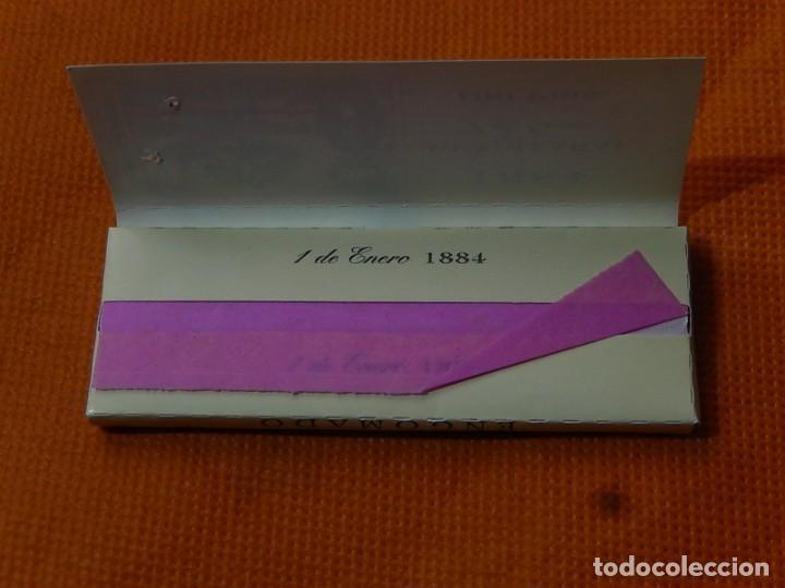 Papel de fumar: 10 libritos de papel de fumar. Billetes antiguos. - Foto 3 - 194337771