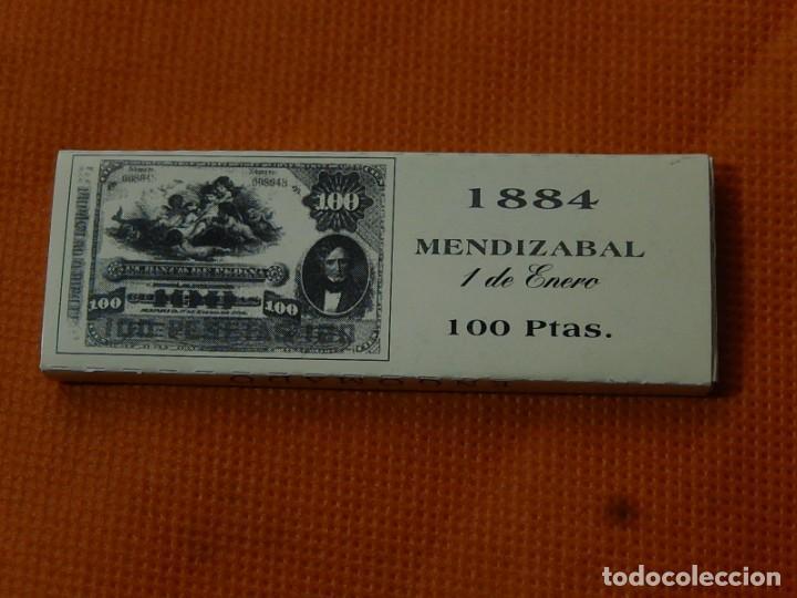 Papel de fumar: 10 libritos de papel de fumar. Billetes antiguos. - Foto 4 - 194337771