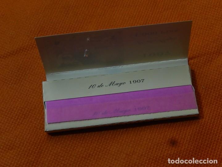 Papel de fumar: 10 libritos de papel de fumar. Billetes antiguos. - Foto 6 - 194337771