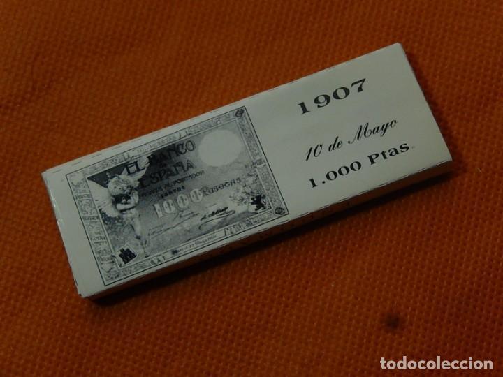 Papel de fumar: 10 libritos de papel de fumar. Billetes antiguos. - Foto 7 - 194337771