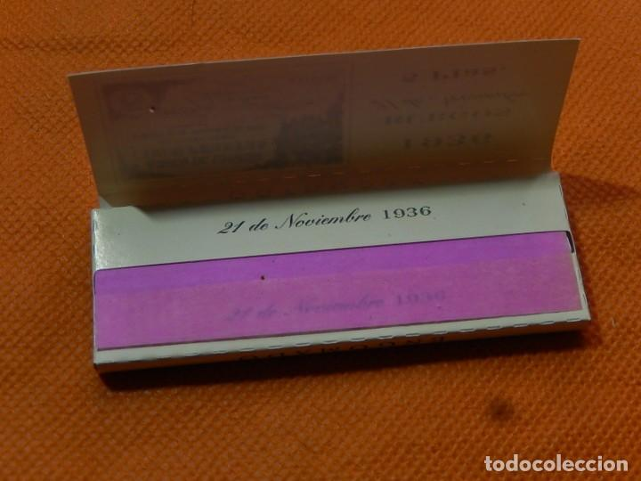 Papel de fumar: 10 libritos de papel de fumar. Billetes antiguos. - Foto 9 - 194337771