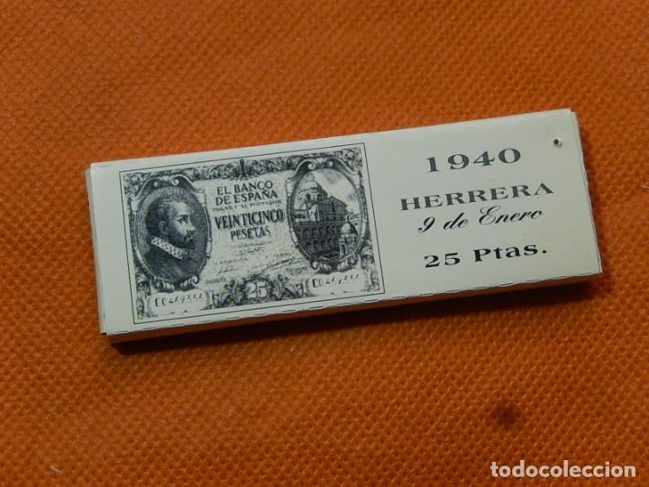 Papel de fumar: 10 libritos de papel de fumar. Billetes antiguos. - Foto 28 - 194337771