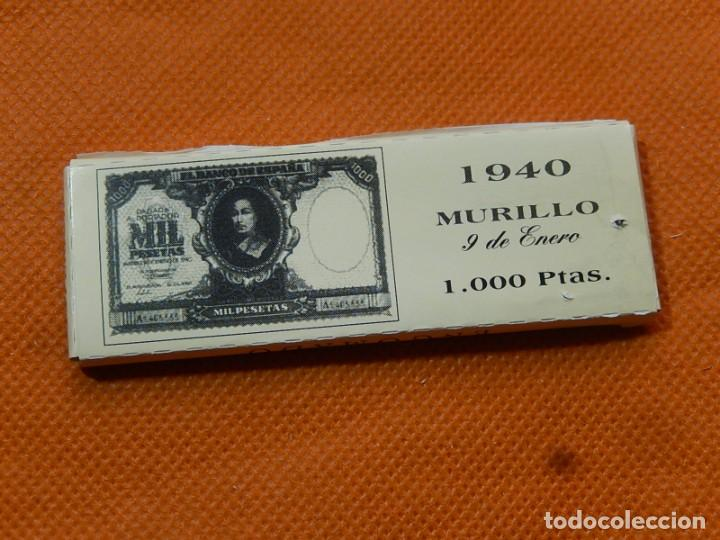 Papel de fumar: 10 libritos de papel de fumar. Billetes antiguos. - Foto 31 - 194337771