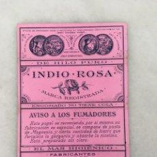 Papel de fumar: ANTIGUO ENVOLTORIO PAPEL DE FUMAR INDIO ROSA. Lote 194648268