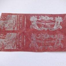 Papel de fumar: ENVOLTURAS DE LIBRILLO PAPEL DE FUMAR. SIN CORTAR. LA ABUNDANCIA. ENRIQUE BRUTINEL. ALCOY. ALICANTE. Lote 194648345