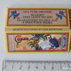 Papel para cigarros: PAPEL DE FUMAR CLUB MODIANO TAMAÑO MEDIANO BISTRO WIDTH 1 1/4 USA MODELO 2. Lote 194677155