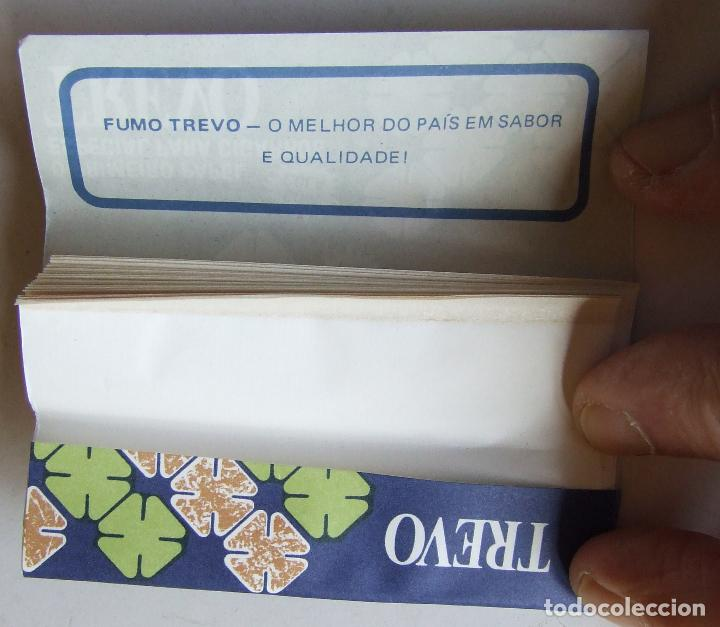 Papel de fumar: PAPEL DE FUMAR TREVO PLEGADO CIGARROS SOUZA CRUZ BRASIL MODELO 1 - Foto 2 - 194685402
