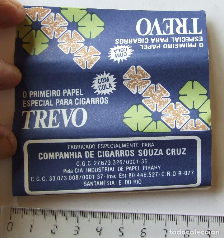 PAPEL DE FUMAR TREVO PLEGADO CIGARROS SOUZA CRUZ BRASIL MODELO 1 (Coleccionismo - Objetos para Fumar - Papel de fumar )