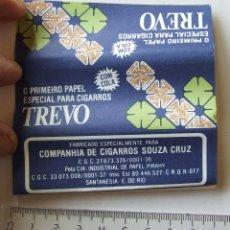Papel de fumar: PAPEL DE FUMAR TREVO PLEGADO CIGARROS SOUZA CRUZ BRASIL MODELO 1. Lote 194685402