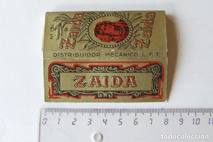 PAPEL DE FUMAR ZAIDA Nº 151 DORADO TAMAÑO MEDIANO MADE IN SPAIN LEOPOLDO FERRANDIZ ALCOY (Coleccionismo - Objetos para Fumar - Papel de fumar )