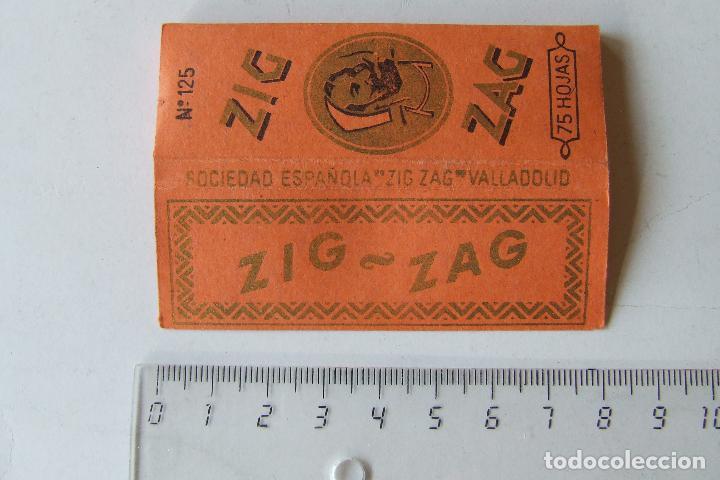PAPEL DE FUMAR ZIG-ZAG Nº 125 NARANJA TAMAÑO MEDIANO MADE IN SPAIN VALLADOLID MODELO 1 (Coleccionismo - Objetos para Fumar - Papel de fumar )