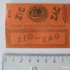 Papel de fumar: PAPEL DE FUMAR ZIG-ZAG Nº 125 NARANJA TAMAÑO MEDIANO MADE IN SPAIN VALLADOLID MODELO 1. Lote 194685715