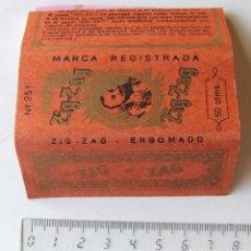 Papel de fumar: PAPEL DE FUMAR ZIG-ZAG Nº 251 PLEGADO MADE IN SPAIN ANALISIS DR. RAMON Y CAJAL. Lote 194686046