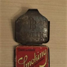Papel de fumar: PAPEL DE FUMAR SMOKING EN ESTUCHE CAJITA METALICA JB. Lote 194959402