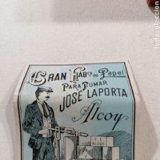 Papel de fumar: PAPEL DE FUMAR JOSÉ LAPORTA. Lote 195150187