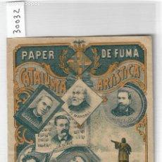 Papel de fumar: PAPEL DE FUMAR - CATALUNYA ARTISTICA - BARCELONA - P30032. Lote 195199898