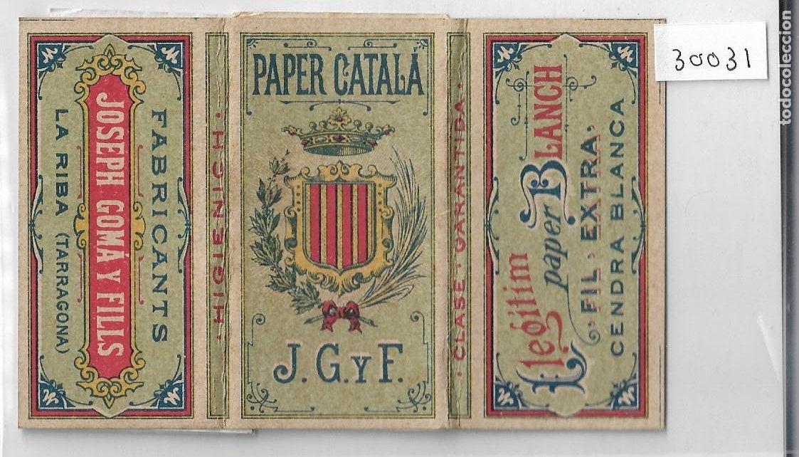 PAPEL DE FUMAR - PAPER CATALÁ - JOSEPH GOMÁ Y FILLS - BARCELONA - P30030 (Coleccionismo - Objetos para Fumar - Papel de fumar )