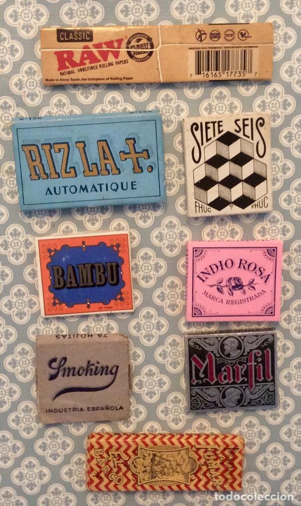Papel de fumar: Lote 8 libritos de papel de fumar - Foto 2 - 195213183