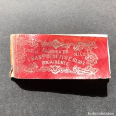 Papel de fumar: LIBRITO DE PAPEL DE FUMAR BOCAIRENTE - BAÑERES - BENEITO - UNICO - LIBRO - CAMPANA - SIGLO XIX. Lote 195387955