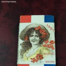 Papel de fumar: PAPEL DE FUMAR LADY. FABRICADO EN AUSTRIA CROMOLITOGRAFÍA FINALES SIGLO XIX. Lote 195579581