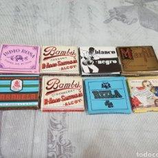 Papel de fumar: LOTE DE 8 LIBRITOS DE PAPEL DE FUMAR. Lote 195869497
